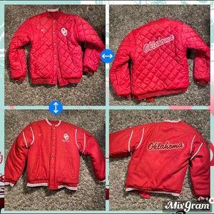 Oklahoma Sooners youth varsity jacket (reversible)